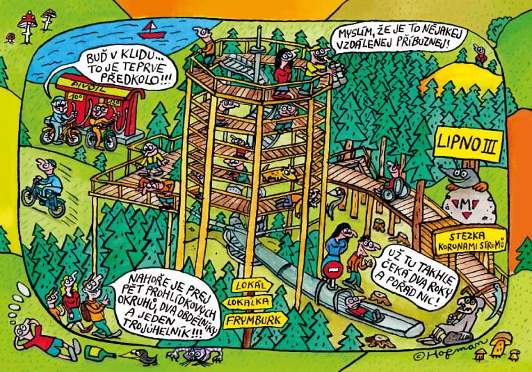 Lipno - Stezka korunami stromů title=