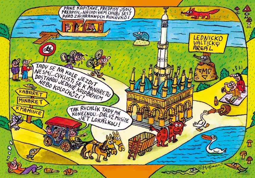 Minaret v Lednicko-valtickém areálu title=